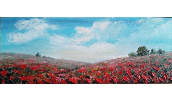 """Poppy Fields"" original fine art by Camille Morgan"
