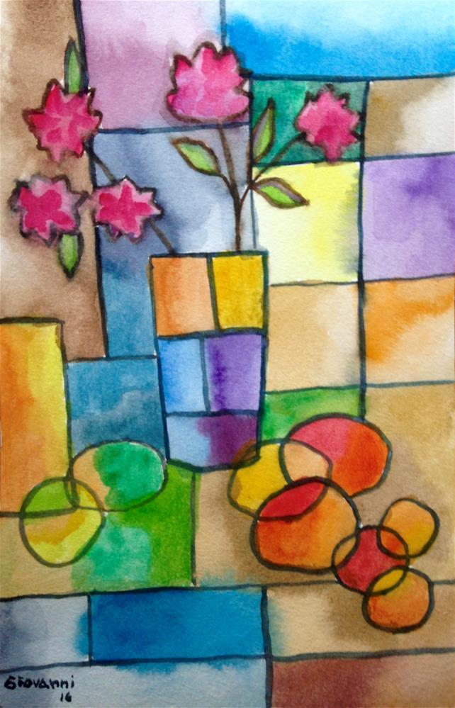 """Mangoes, peaches, and Azaleas"" original fine art by Giovanni Antunez"