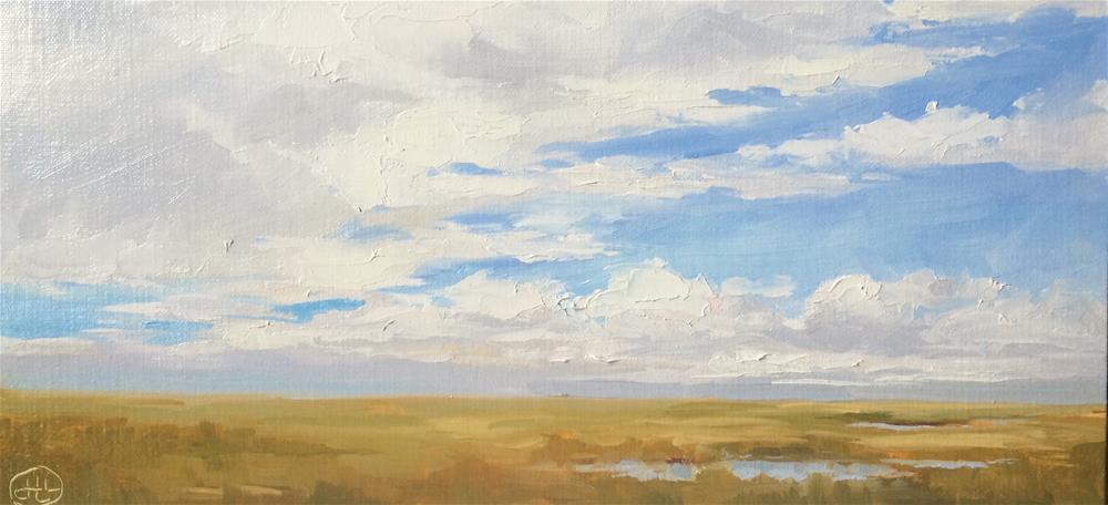 """autumn begins"" original fine art by Dottie  T  Leatherwood"