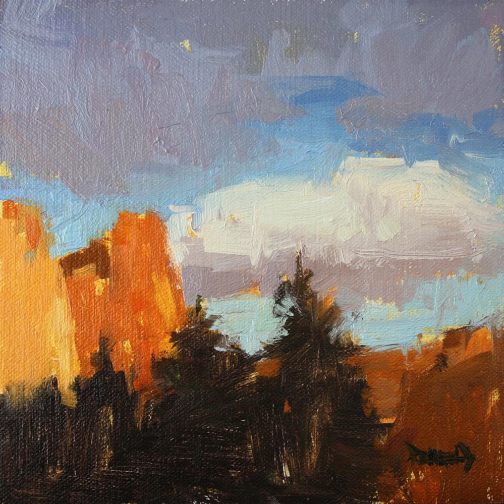 """Cloud Glow"" original fine art by Cathleen Rehfeld"