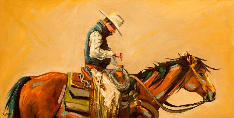 """Cowboy pose"" original fine art by Diane Whitehead"