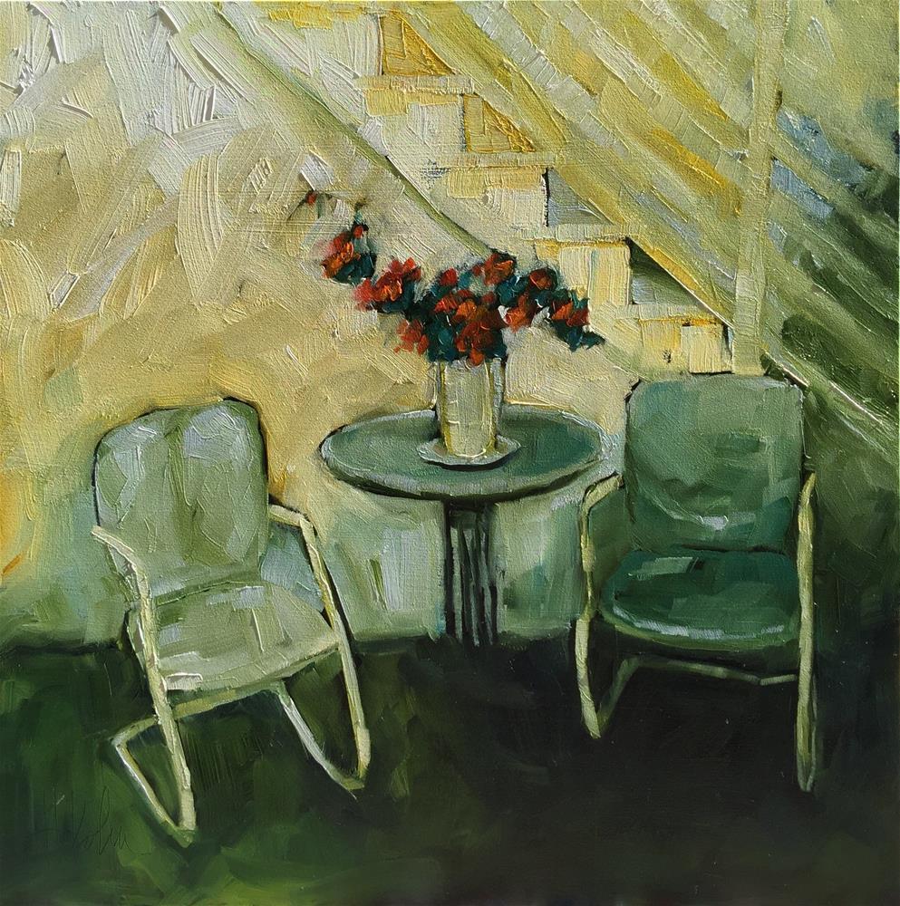 """Sit a Spell"" original fine art by Hallie Kohn"