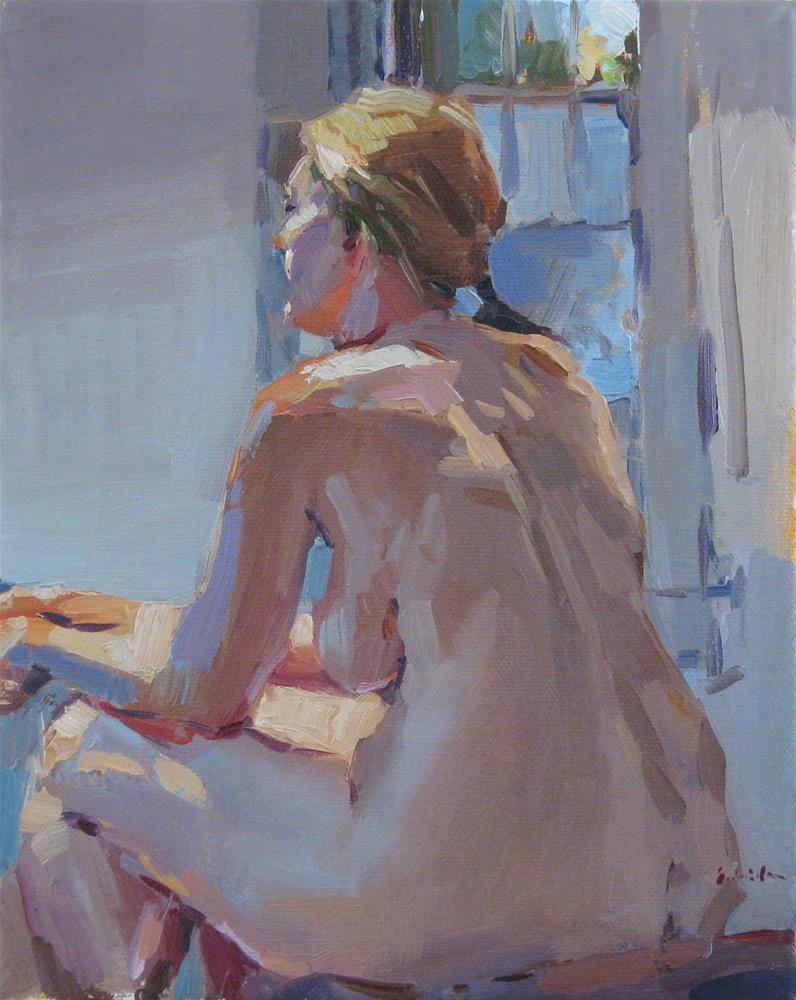 """Blue Evening Light"" original fine art by Sarah Sedwick"