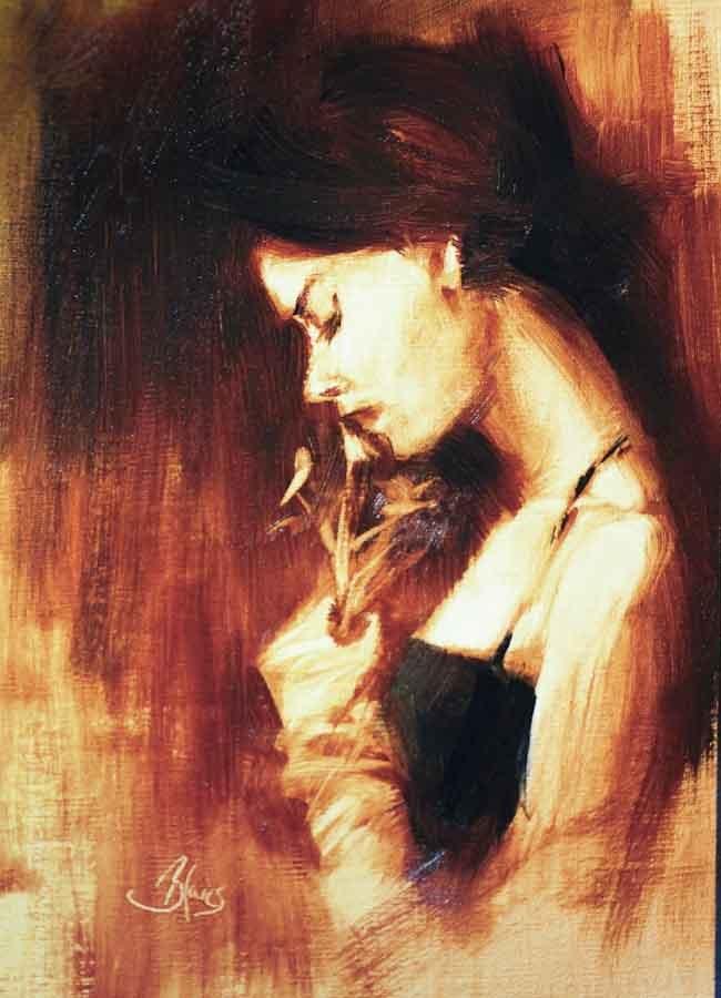 """He Loves Me, He Loves Me Not..."" original fine art by Pamela Blaies"