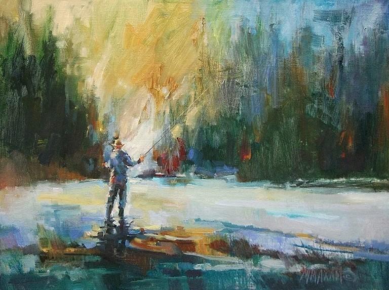 """An Early Riser"" original fine art by Mary Maxam"