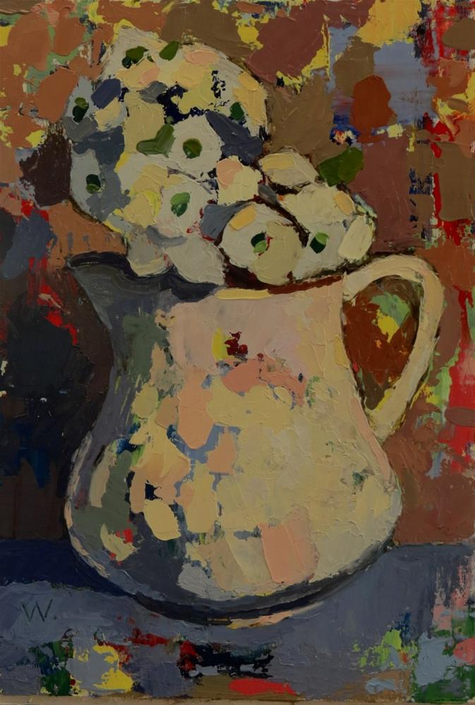 """Pear Tree Blossoms"" original fine art by Joan Wiberg"