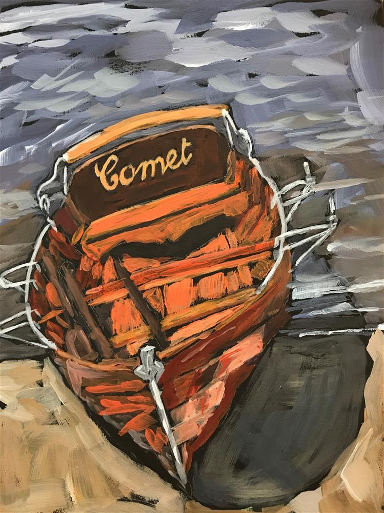 """Cadmium Comet"" original fine art by Gina Garding"
