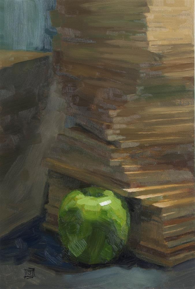 """72 boards, a still life painter's dream"" original fine art by Johan Derycke"