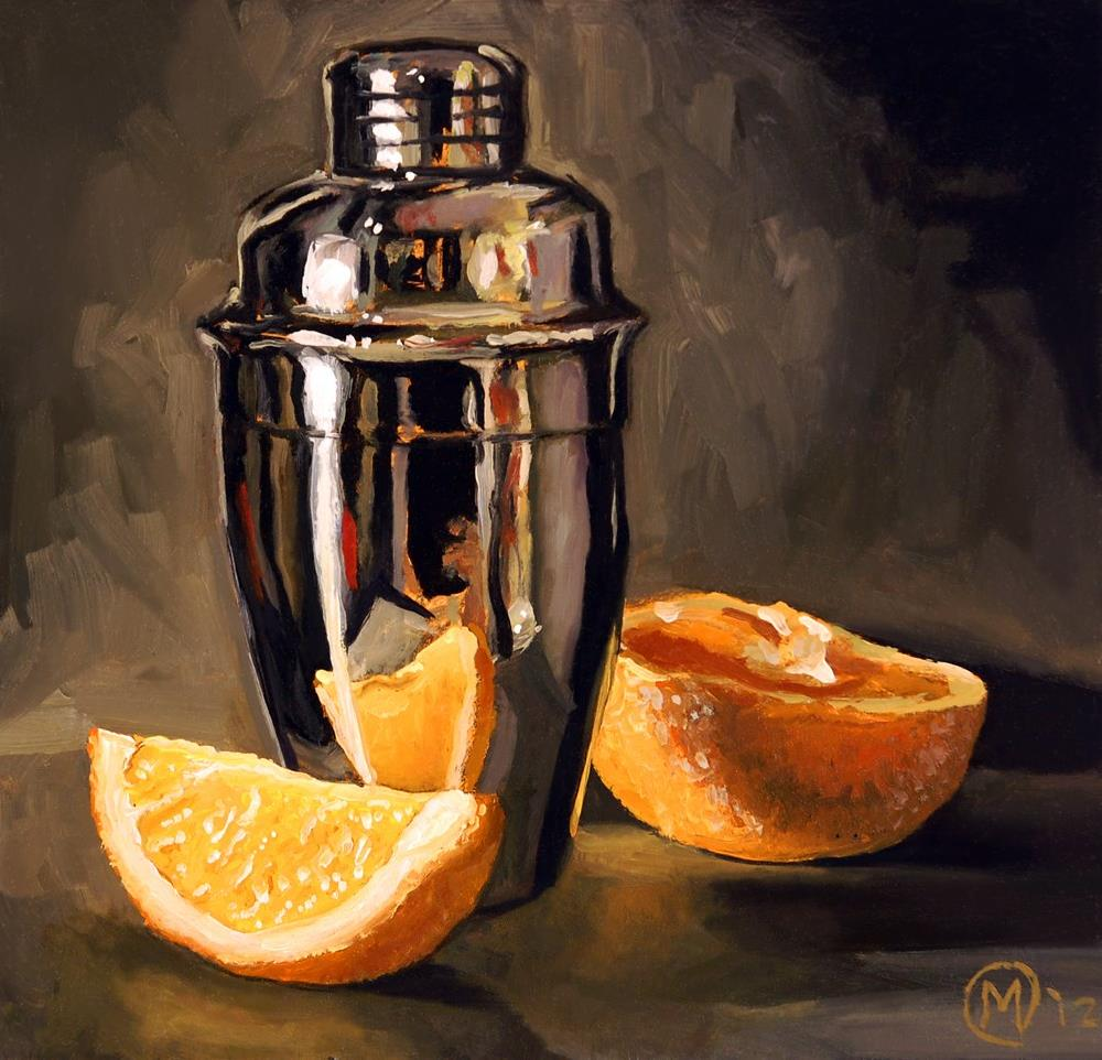 """Orange & Martini"" original fine art by Maurice Morgan II"