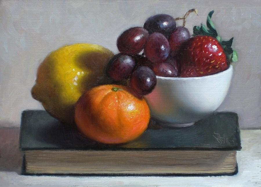 """""""Fruitful"""" original fine art by Debra Becks Cooper"""