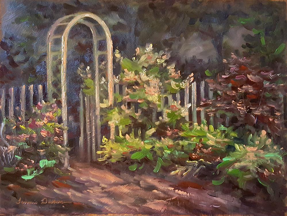 """""""Dawn in the Garden"""" original fine art by Tammie Dickerson"""