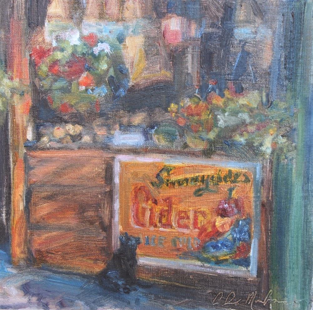"""First Customer of the Day"" original fine art by Carol DeMumbrum"