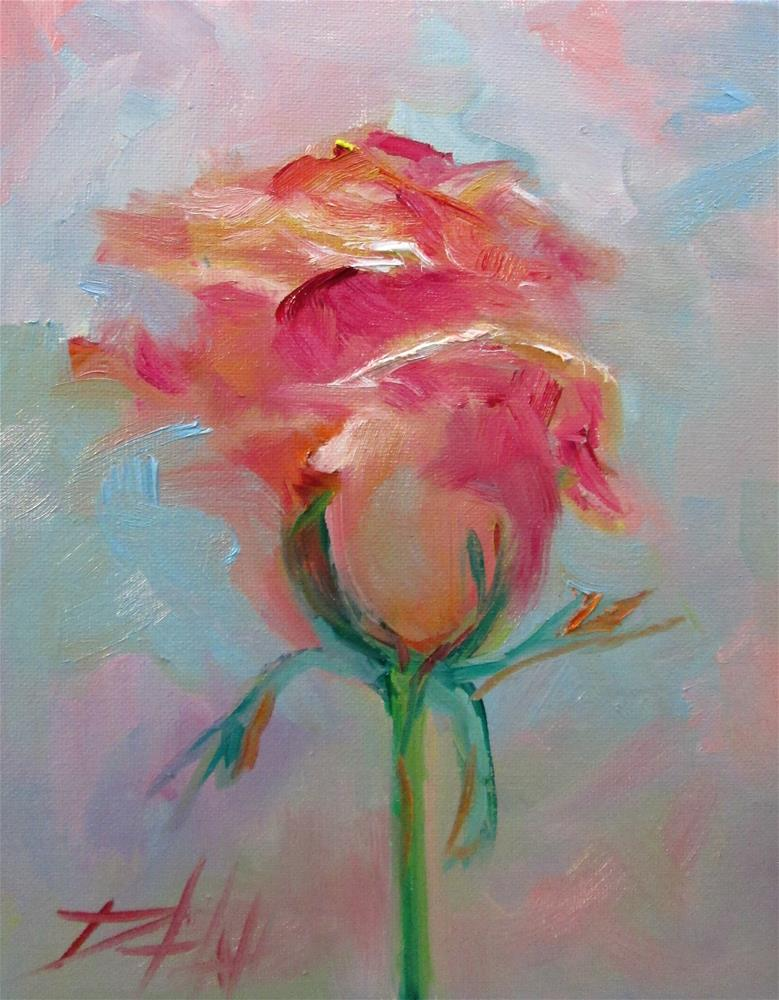 """Pink Rose No. 4"" original fine art by Delilah Smith"