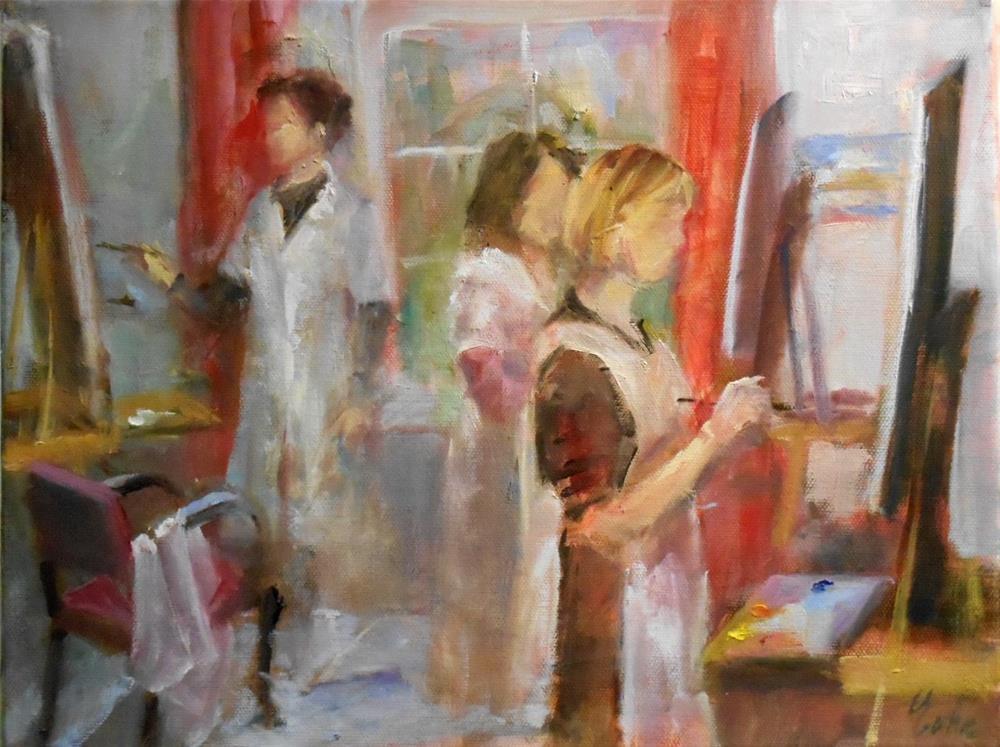 """A l'Atelier"" original fine art by Evelyne Heimburger Evhe"