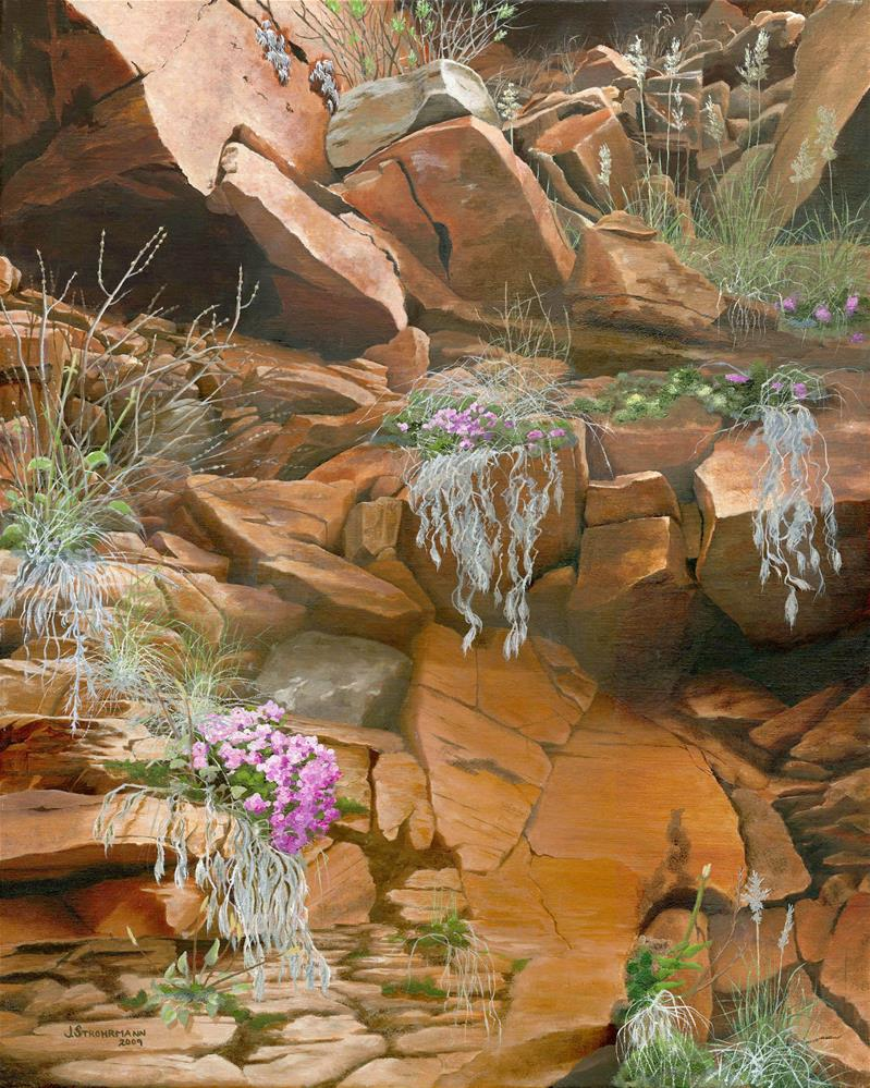 """""""In the Clefts of the Rock"""" original fine art by Jeanne Strohrmann"""