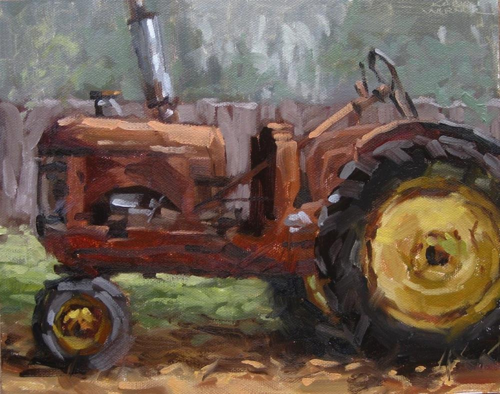 """Tractor Portrait"" original fine art by Karen Werner"