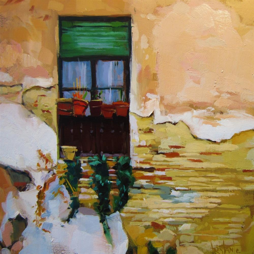 """Chipped wall"" original fine art by Víctor Tristante"