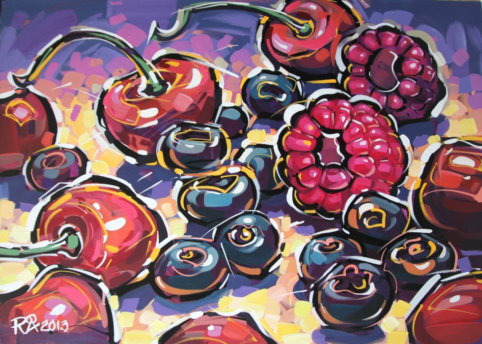 """Berry abstraction 1"" original fine art by Roger Akesson"