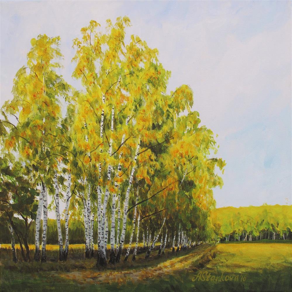 """Turning gold"" original fine art by Anna Starkova"