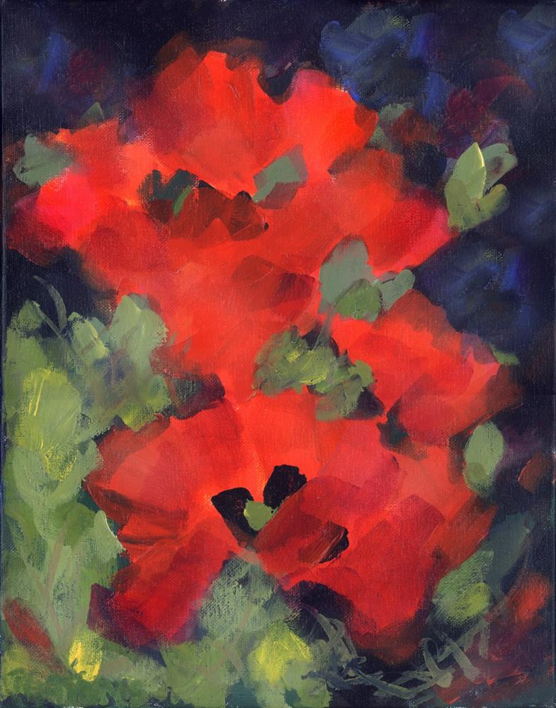 """Deep Reds"" original fine art by Pamela Gatens"