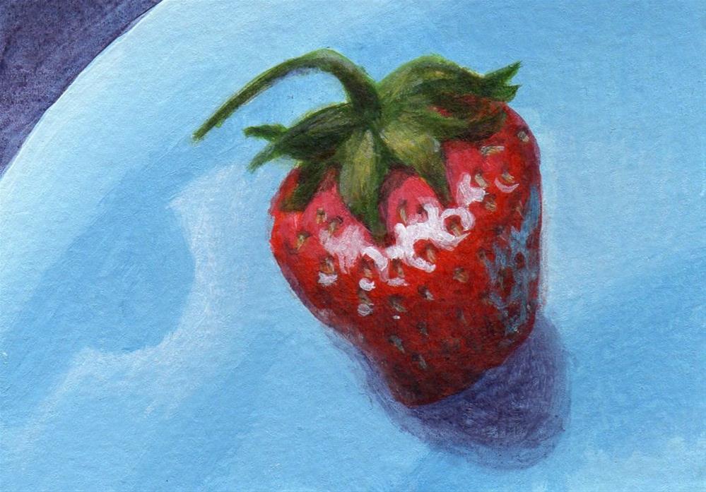"""Strawberry Swing"" original fine art by Debbie Shirley"