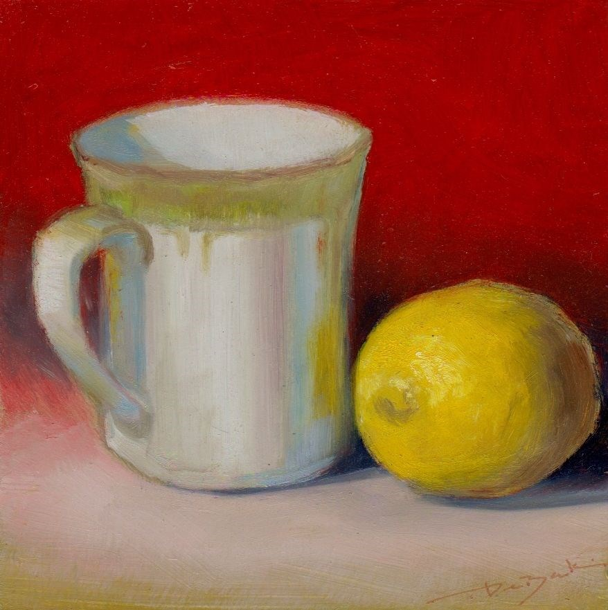 """""""lemon for tea"""" original fine art by Mark DeBak"""