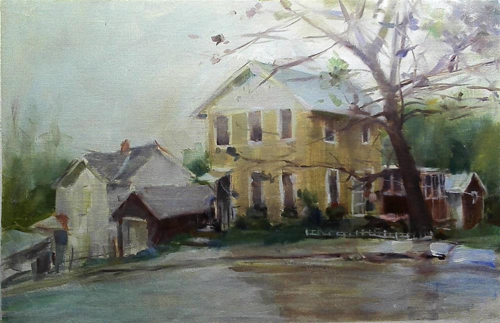 """misty"" original fine art by Richard Schiele"