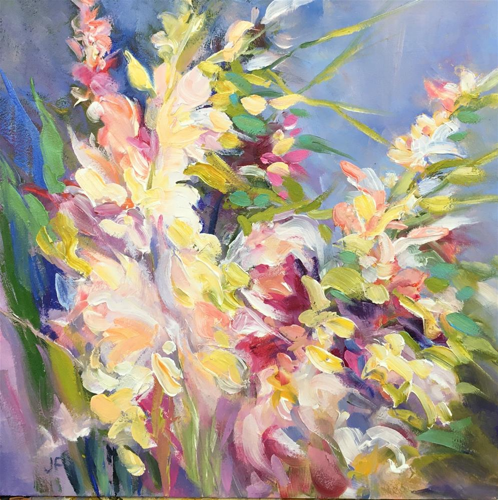"""Impressionistic Snap Dragons"" original fine art by Charlotte Fitzgerald"