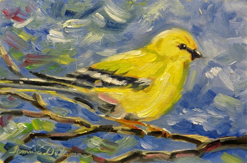 """Little Goldfinch"" original fine art by Tammie Dickerson"