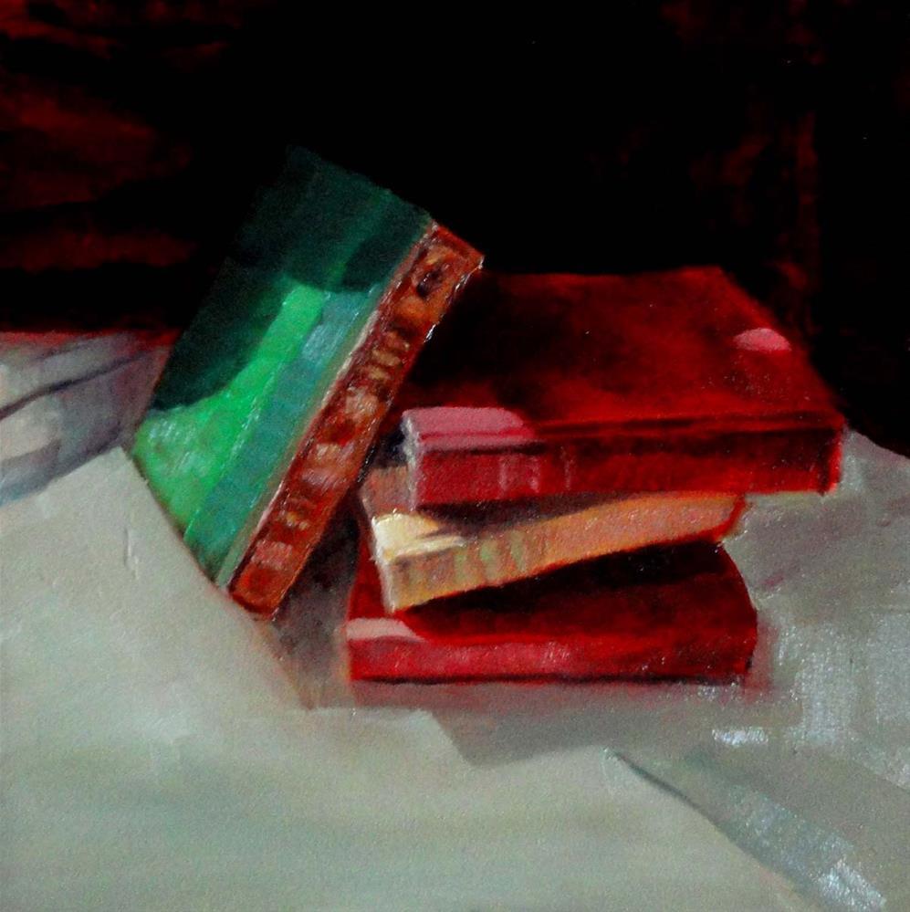 """Long Night's Reading"" original fine art by Cietha Wilson"