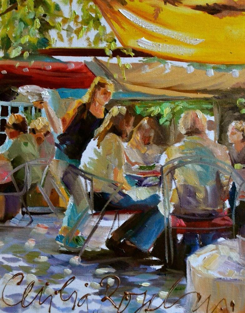 """""""CORKSCREW Café"""" original fine art by Cecilia Rosslee"""