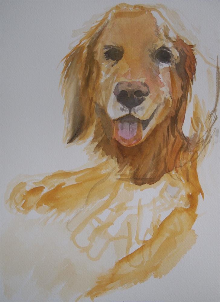 """Clover and Sport, sketch"" original fine art by Cindy McDonough"