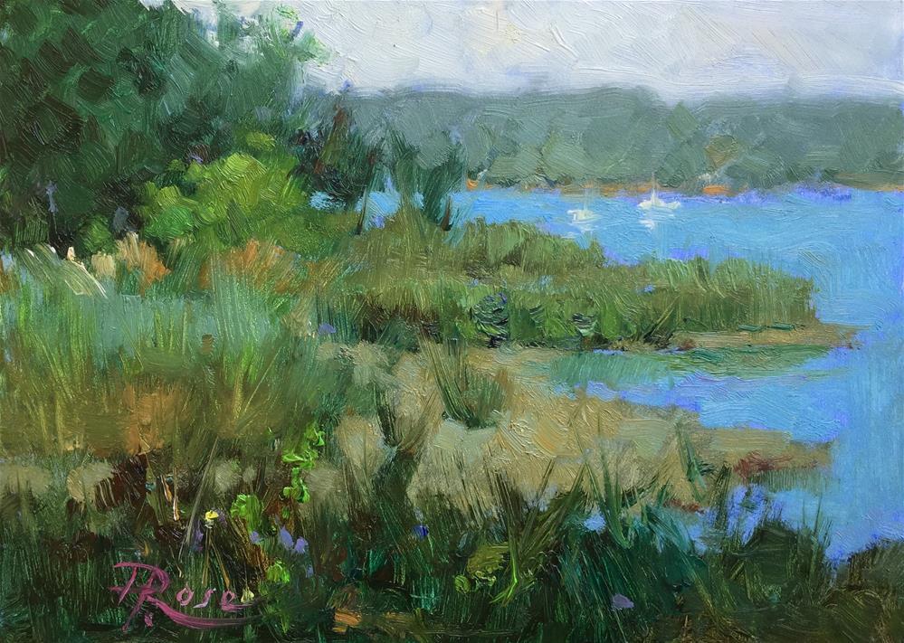 """""""Cold Spring Harbor north"""" original fine art by Howard Rose"""
