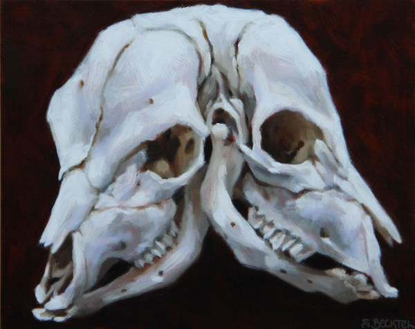 """Two-Headed Calf"" original fine art by Sarah Becktel"