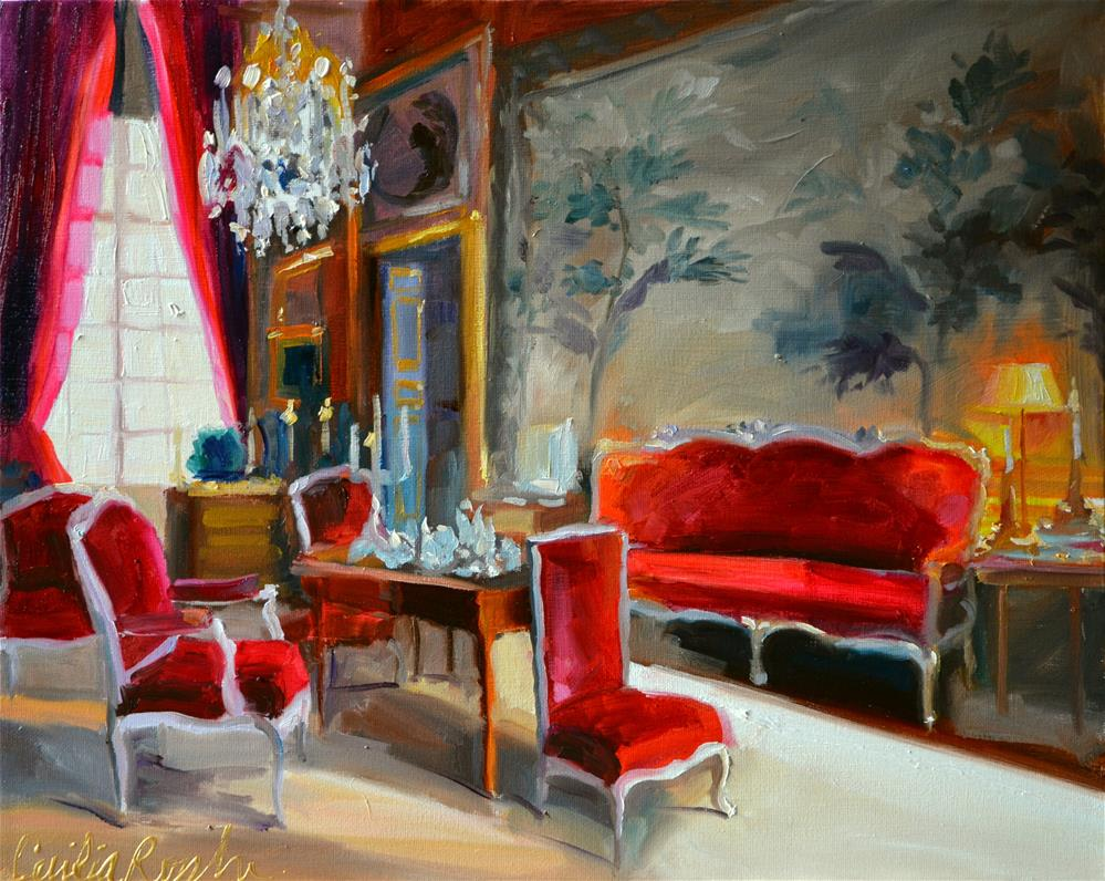 """CHATEAU DU CHAMPS"" original fine art by Cecilia Rosslee"