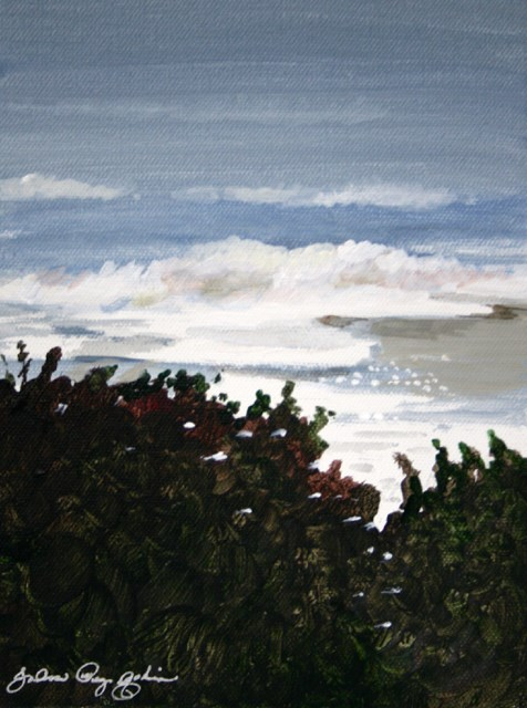 """Trees and Sea"" original fine art by JoAnne Perez Robinson"