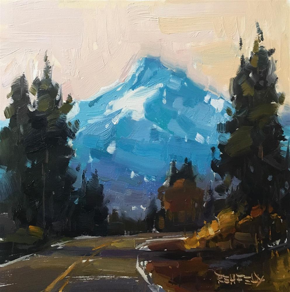 """Road to Mt Hood"" original fine art by Cathleen Rehfeld"
