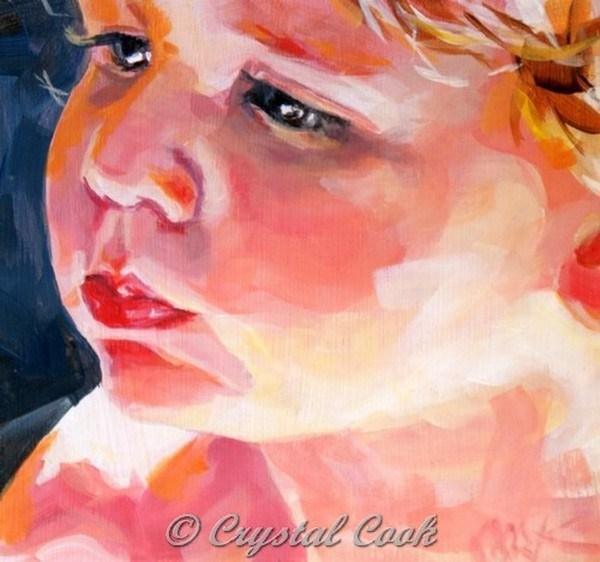 """Full Cheeks"" original fine art by Crystal Cook"