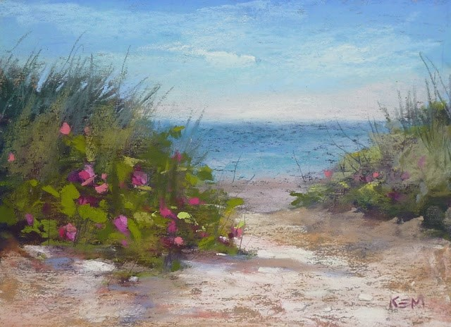 """Finishing a Painting and How to Remove Distractions part 2"" original fine art by Karen Margulis"