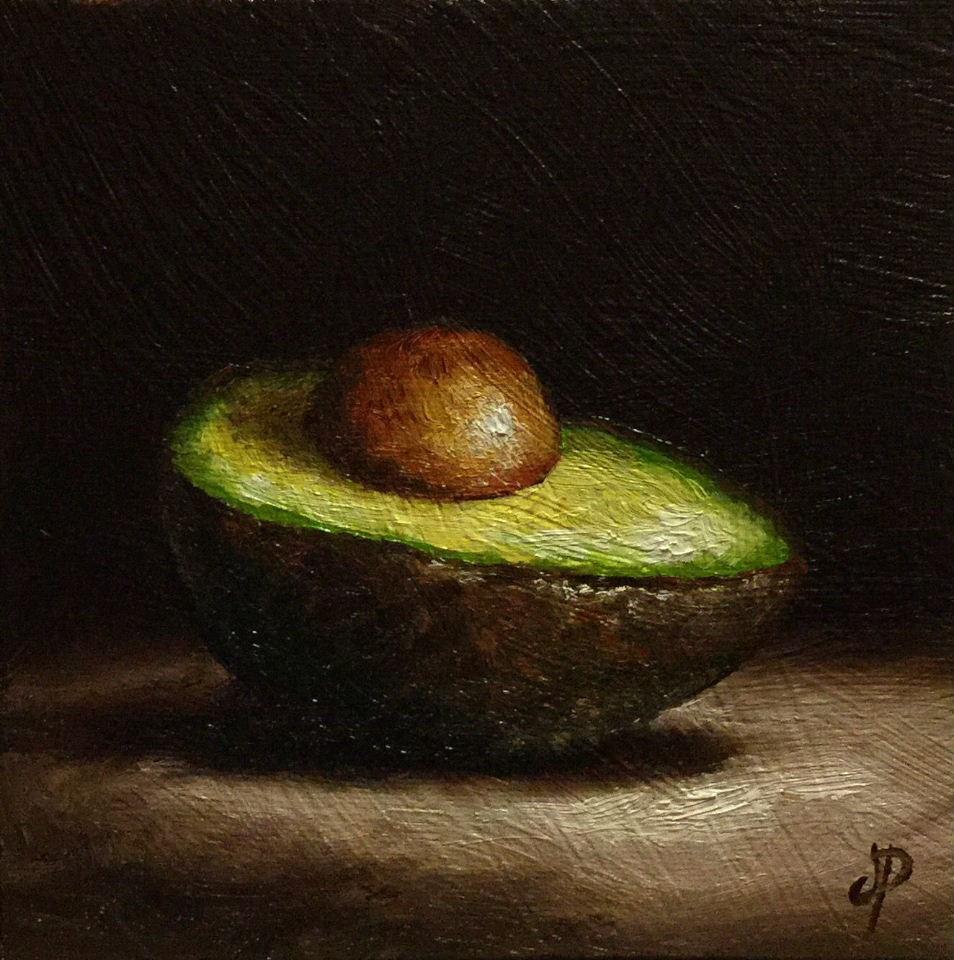 """avocado"" original fine art by Jane Palmer"