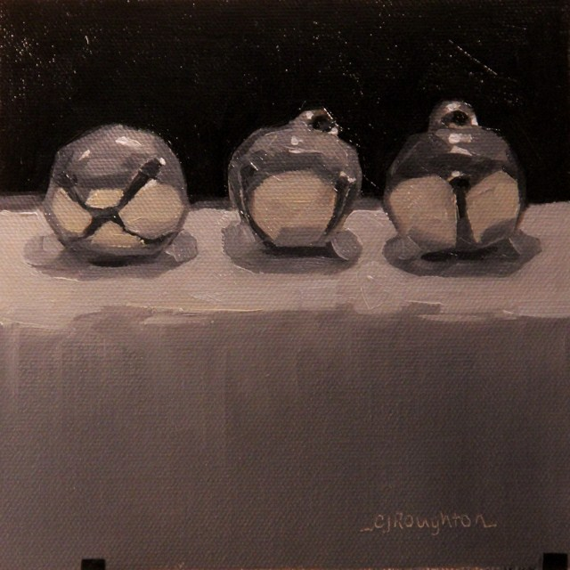"""""""Three Bells... Ringing In The New Year"""" original fine art by C J Roughton"""