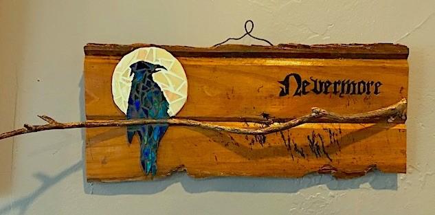 """""""Ode to Poe"""" original fine art by Joetta Currie"""