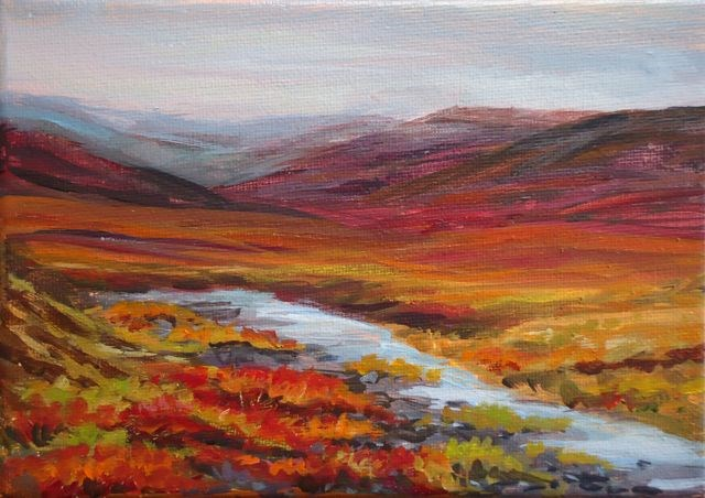 """The Dempster, Yukon"" original fine art by Jackie Irvine"
