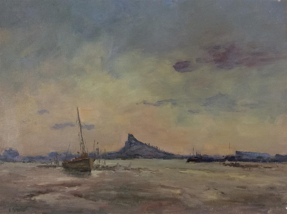 """A Day on Lindisfarne"" original fine art by John Shave"