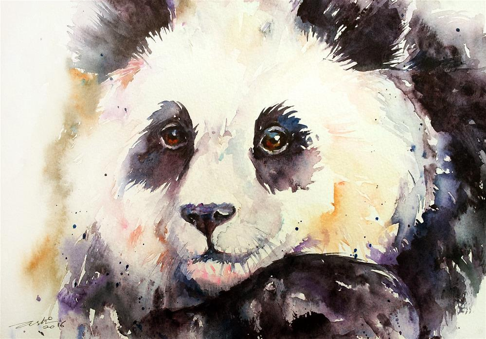 """Purple Panda Lee"" original fine art by Arti Chauhan"