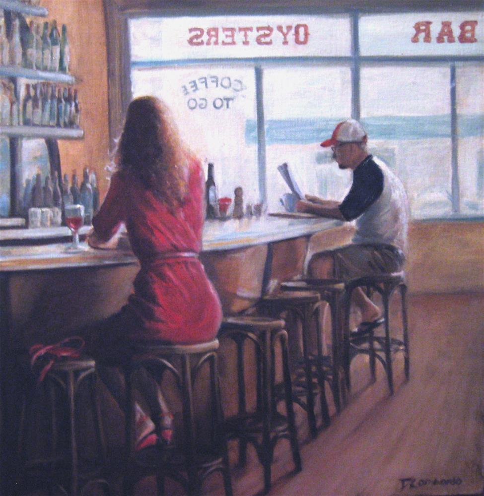 """Morning Coffee"" original fine art by Dana Lombardo"