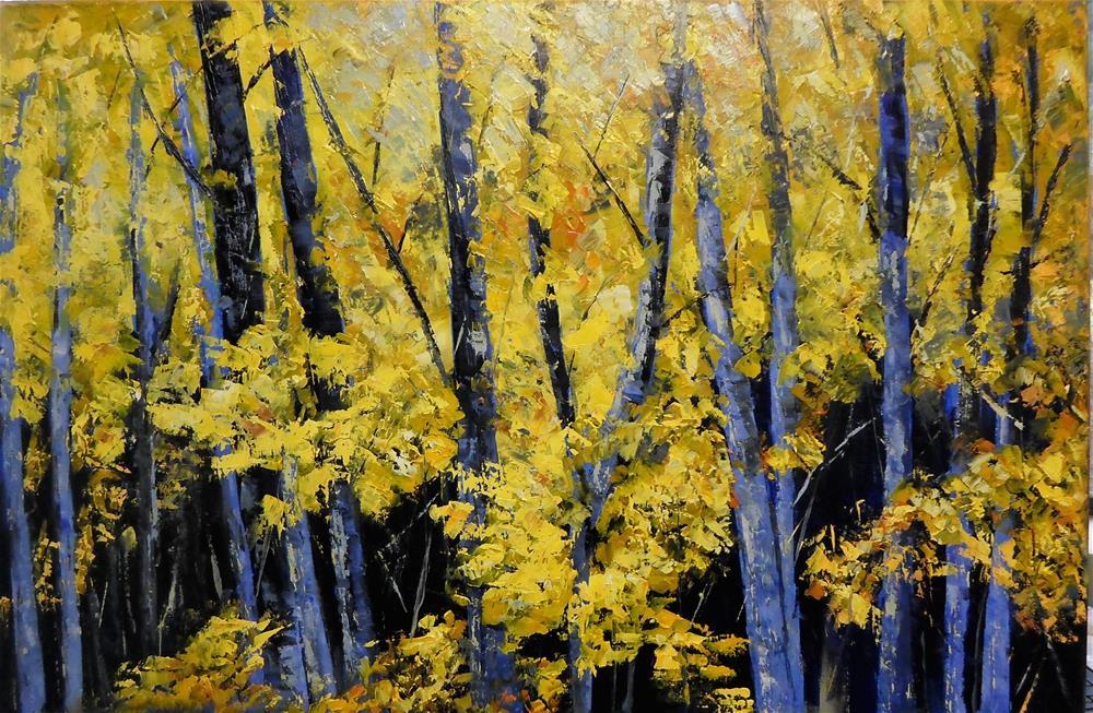 """""""30 x 20 inch oil Forest Series"""" original fine art by Linda Yurgensen"""
