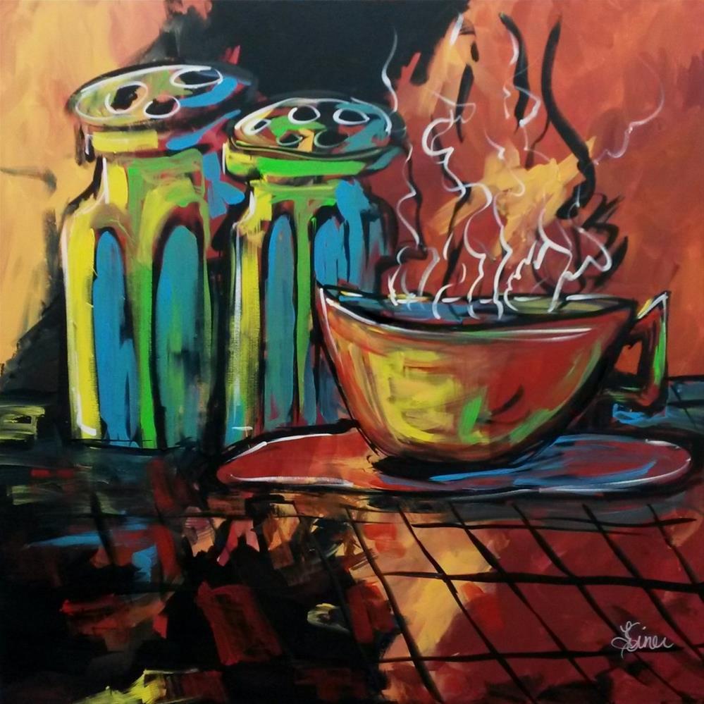 """Coffee Break-Day 20 of the 30 Paintings in 30 Day Challenge"" original fine art by Terri Einer"