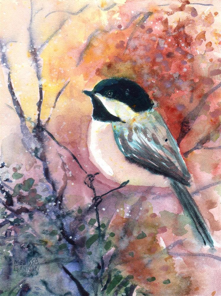"""""""Bird in the Bushes"""" original fine art by Melissa Gannon"""