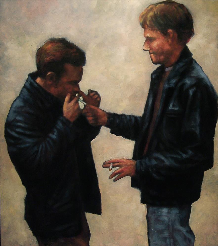 """""""John & Troy"""" original fine art by Joe Fitzgerald"""